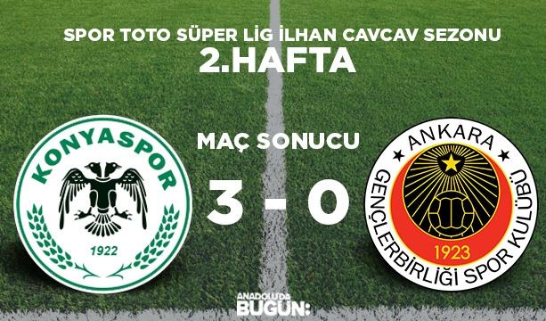 Konyaspor şov yaptı, 3 puanı 3 golle aldı