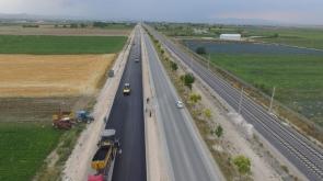 Konya Çumra'da duble yol ve sıcak asfalt çalışmaları #konyahaber