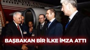 Başbakan Yıldırım bir ilke imza attı