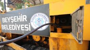 Konya'da belediyeye ait iş makinesinden mazot çalındı #konyahaber