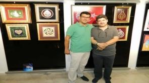 Sanatçı Recep Tuğ  eserlerini sergiledi