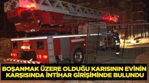 Boşanmak üzere olduğu karısının evinin karşısında intihar girişiminde bulundu #KonyaHaber