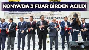 Konya'da 3 fuar birden açıldı #KonyaHaber