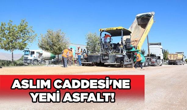 Aslım Caddesi'ne yeni asfalt! #KonyaHaber