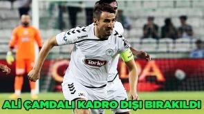 Konyaspor'da Ali Çamdalı kadro dışı bırakıldı