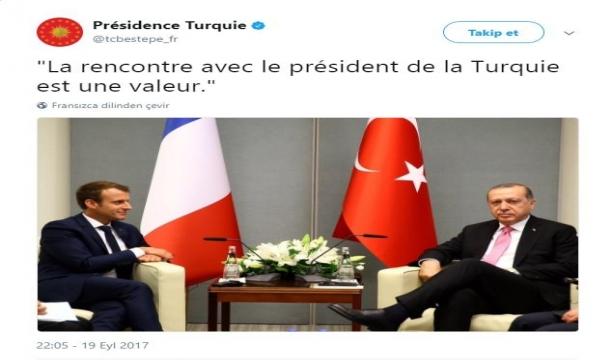 Cumhurbaşkanlığı'ndan Macron'a ince mesaj