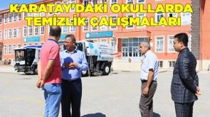 Karatay'daki okullarda temizlik çalışmaları #KonyaHaber