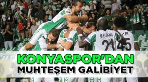 Konyaspor'dan muhteşem galibiyet