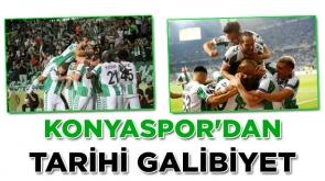 Konyaspor'dan tarihi galibiyet