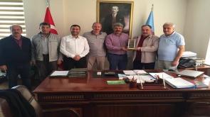 Başkan Celil Çalış dostlarıyla görüştü