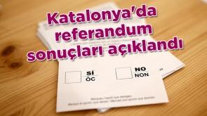 Katalonya referandumunda sonuçlar açıklandı!