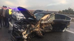 MHP'li Demirel kazada yaralandı! 1 ölü, 5 yaralı