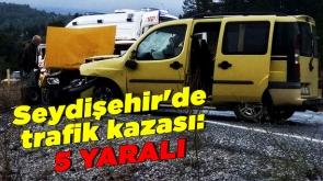 Konya Seydişehir'de trafik kazası: 5 Yaralı #KonyaHaber