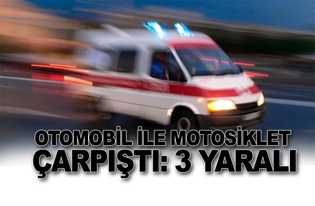 Konya Haber:  Konya'da Otomobil ile motosiklet çarpıştı: 3 yaralı