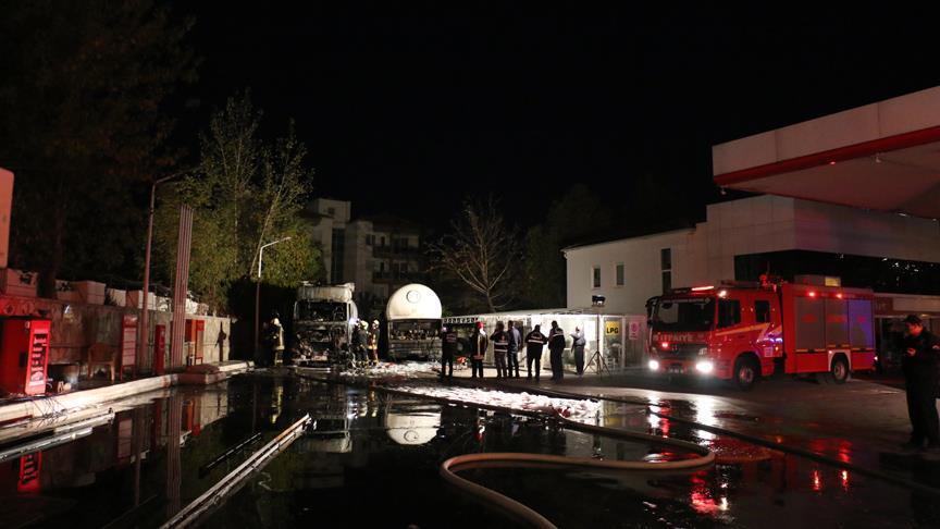 Denizli'de akaryakıt istasyonunda patlama