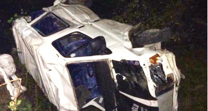 Giresun'da minibüs uçuruma devrildi: 1 ölü, 5 yaralı