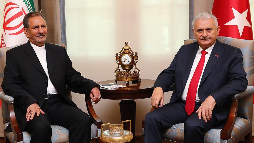 Başbakan Yıldırım'dan İran Cumhurbaşkanı Yardımcısı Cihangiri'ye başsağlığı telefonu