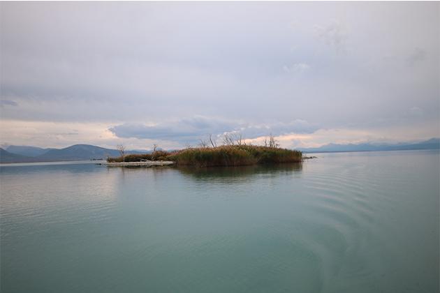 Konya Haber:  Konya Beyşehir Gölü'nde su seviyesi düşünce küçük adacıklar ortaya çıktı
