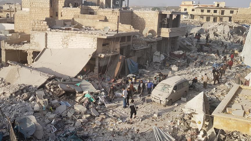 Halep'te pazar yeri saldırısında ölü sayısı 57'ye yükseldi