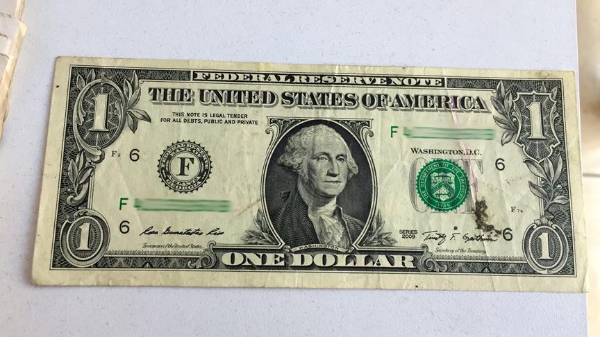 F serisi bir dolar düğünden hatıra kalmış