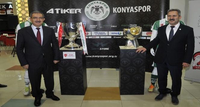 Konya Haber:  Türkiye'nin iki büyük kupası, Selçuk'ta sergileniyor