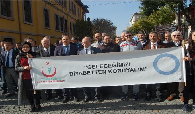 Konya Haber:  Konya'da Dünya #Diyabet ve #KOAH Günü yürüyüşü gerçekleşti #ÖzelHaber