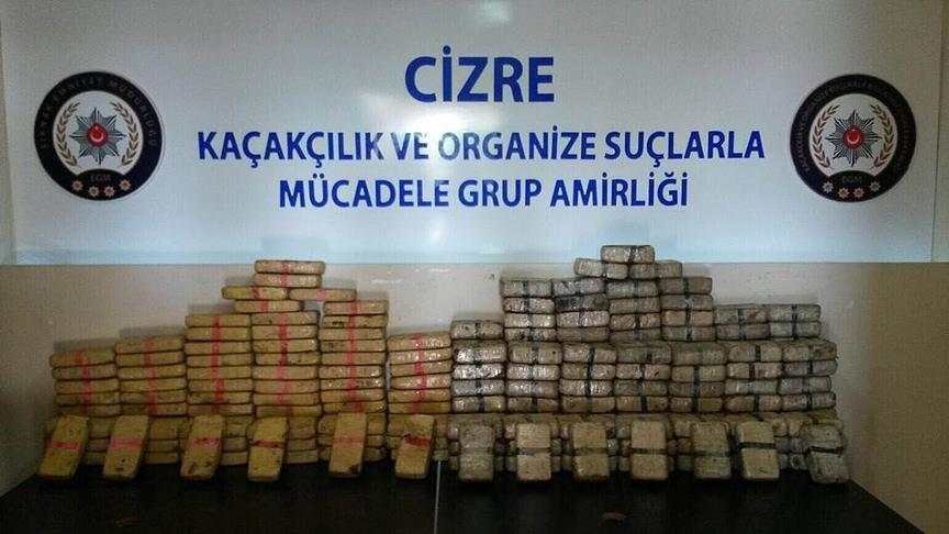 Cizre'de tır dorsesinde 120 kilogram eroin bulundu