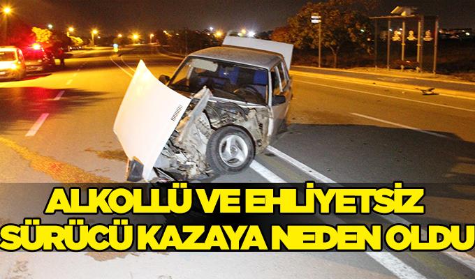 Konya Haber:  Konya'da Alkollü ve ehliyetsiz sürücü kazaya neden oldu