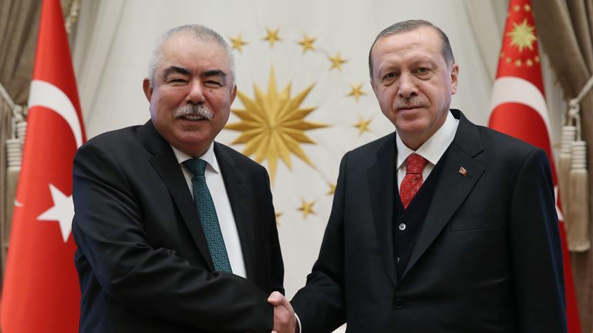 Cumhurbaşkanı Erdoğan Raşit Dostum'u kabul etti
