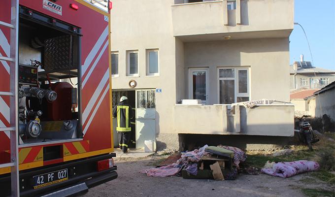 Konya Haber: Konya Karapınar'da ev yangını