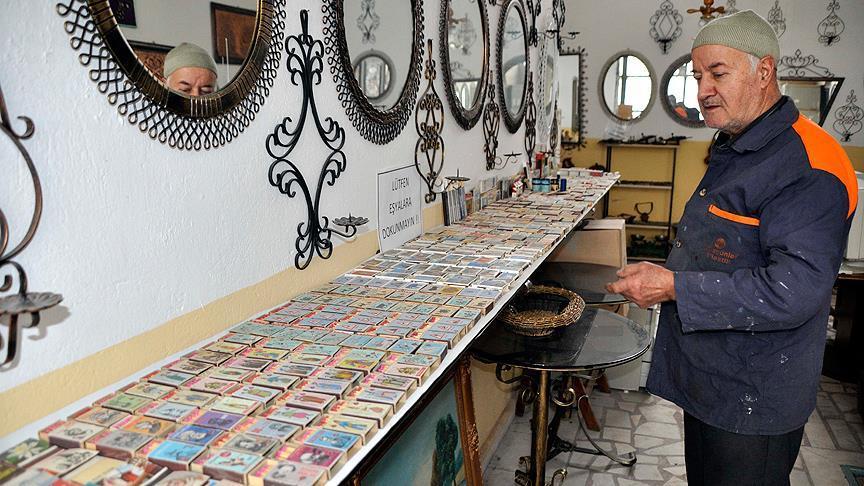 Annesinin hediyesiyle başladı 2000 kutuluk koleksiyon sahibi oldu