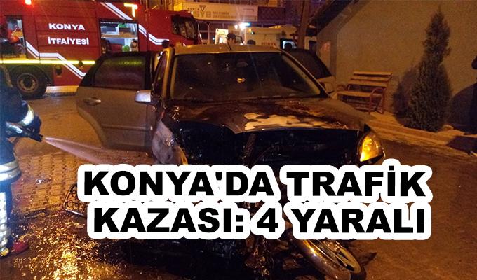 Konya Haber:  Konya'da trafik kazası: 4 yaralı