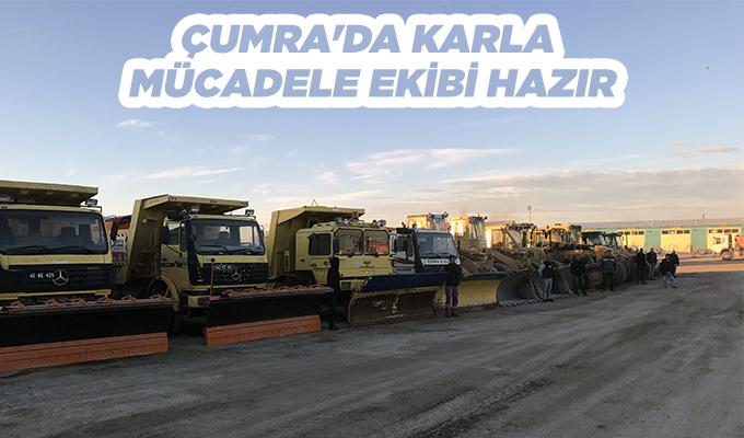 Konya Haber: Konya Çumra'da karla mücadele ekibi hazır