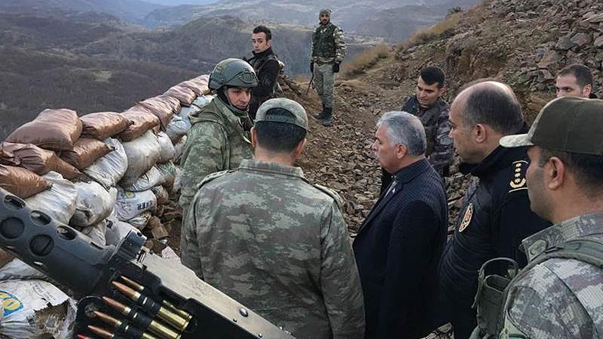 Muş Valisi Yıldırım 16 teröristin öldürüldüğü operasyon bölgesini inceledi