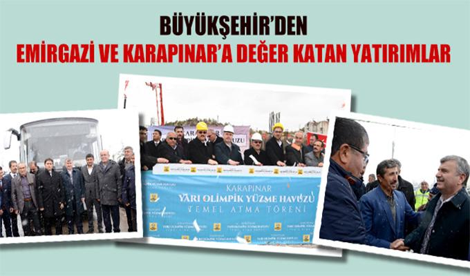 Konya Haber:  Konya Büyükşehir'den Emirgazi ve Karapınar'a Değer Katan Yatırımlar