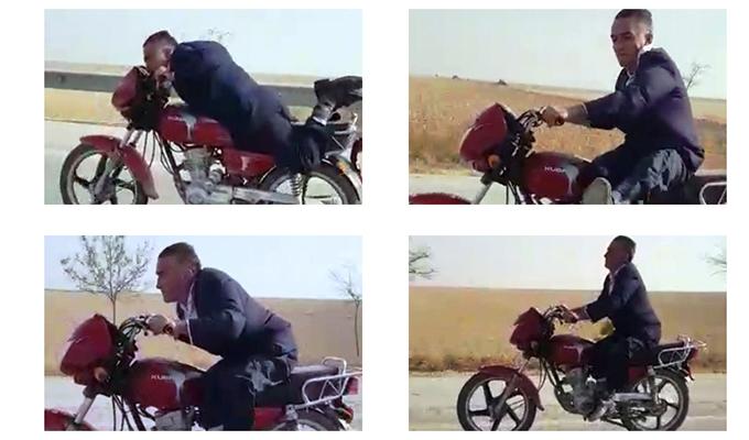 Konya Haber: Konya'da motosiklet üzerinde yapmadığı kalmadı
