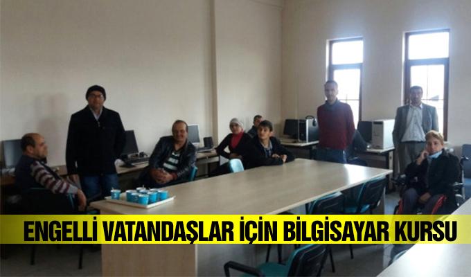 Konya Haber:  Konya Akşehir'de engelli vatandaşlar için bilgisayar kursu