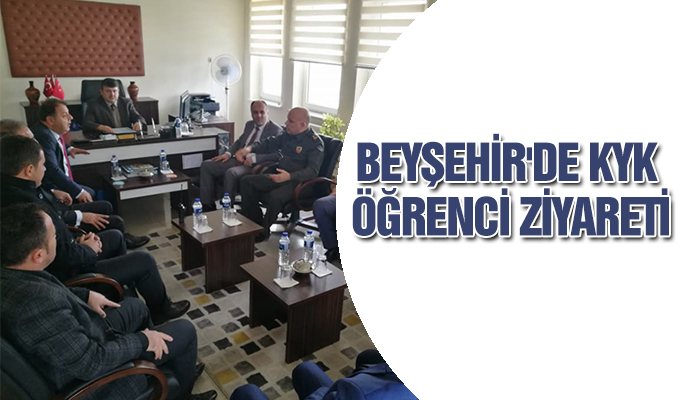 Konya Haber:  Konya Beyşehir'de KYK öğrenci ziyareti