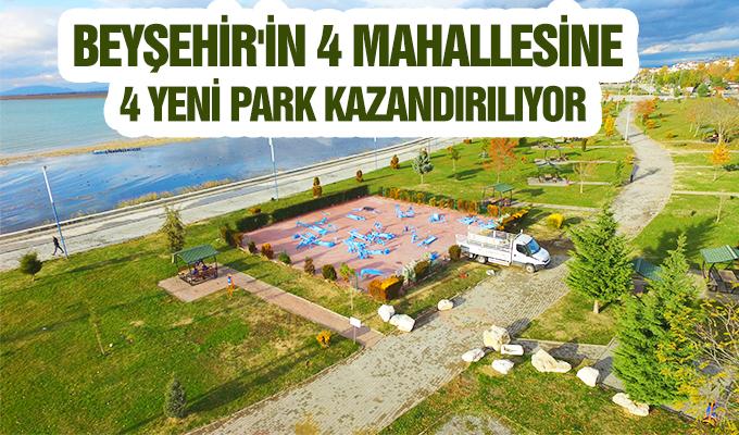 Konya Haber:  Konya Beyşehir'in 4 mahallesine 4 yeni park kazandırılıyor