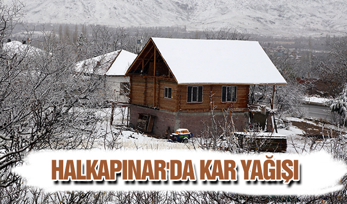 Konya Haber:  Konya Halkapınar'da kar yağışı