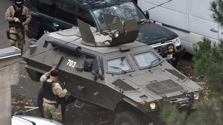 Gürcistan'ın başkentinde patlama ve silah sesleri
