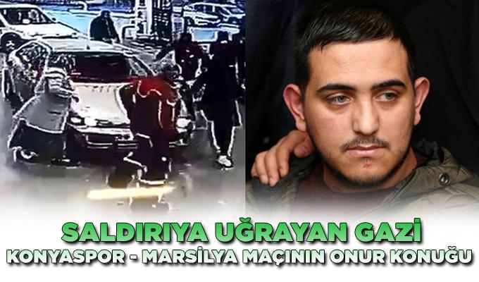 Konya Haber:  Trafikte saldırıya uğrayan Gazi, Konyaspor-Marsilya maçının onur konuğu olacak