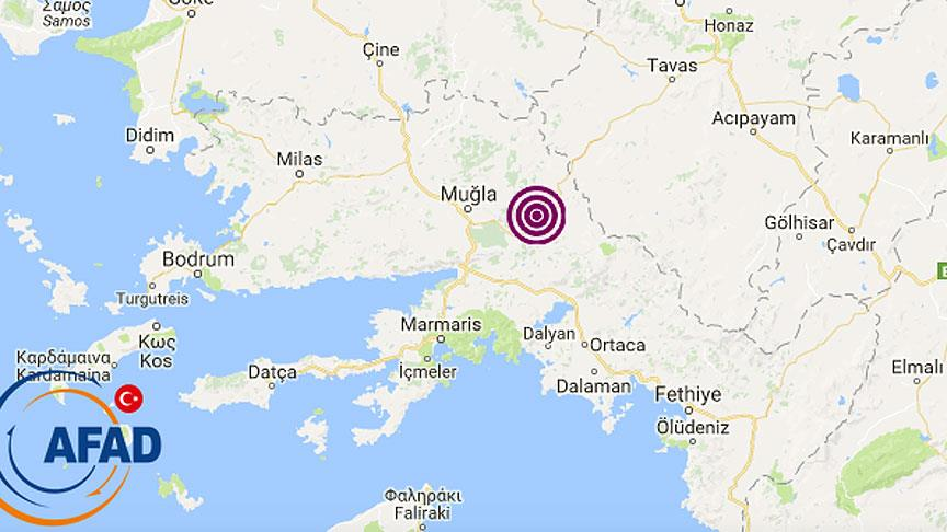 Son Depremler:  Muğla'da 5 Büyüklüğünde #Deprem Halkı Sokağa Döktü.
