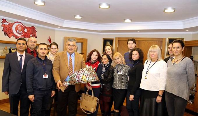 Konya Haber:  Yabancı öğretmenler Başkan Özgüven'e ziyaret