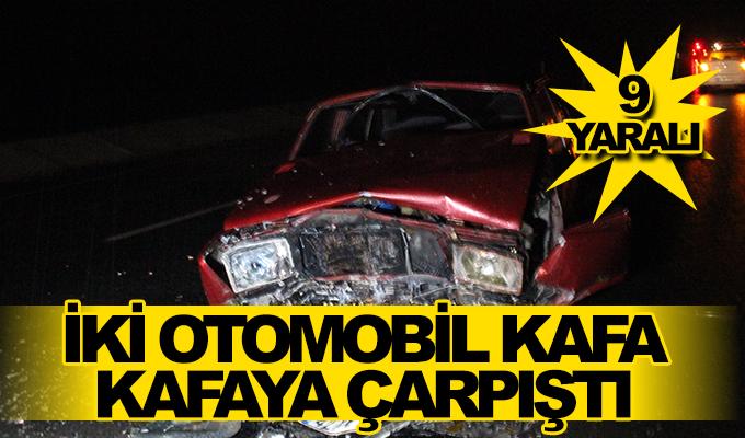Konya Haber:  İki otomobil kafa kafaya çarpıştı: 9 yaralı