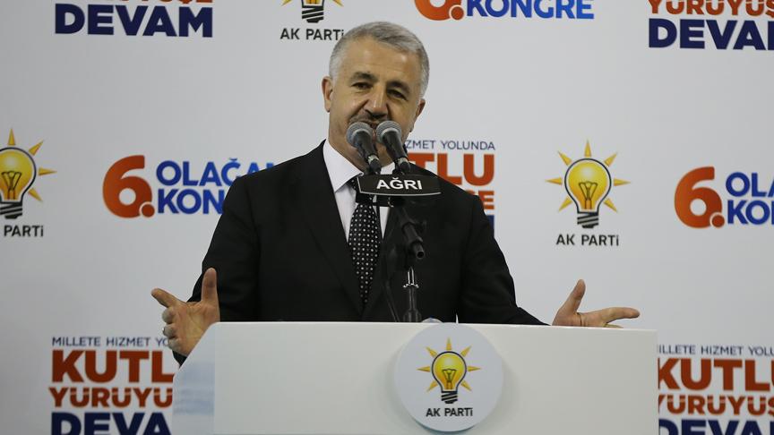 Bakan Arslan: Bölünmüş yol, sıcak asfalt sürecini hızlandırdık