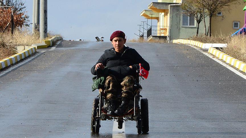 Engelli haltercinin yaşama azmi