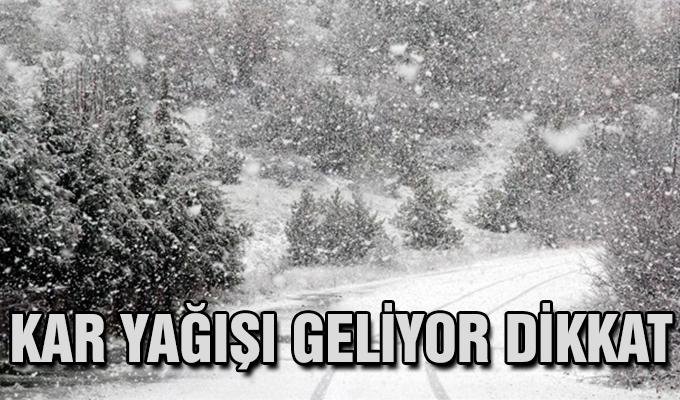 Meteorolojiden son tahmin kar yağışı geliyor