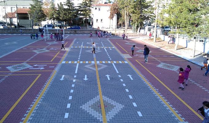 Konya Haber:  Konya Seydişehir Belediyesinden okullara trafik parkuru