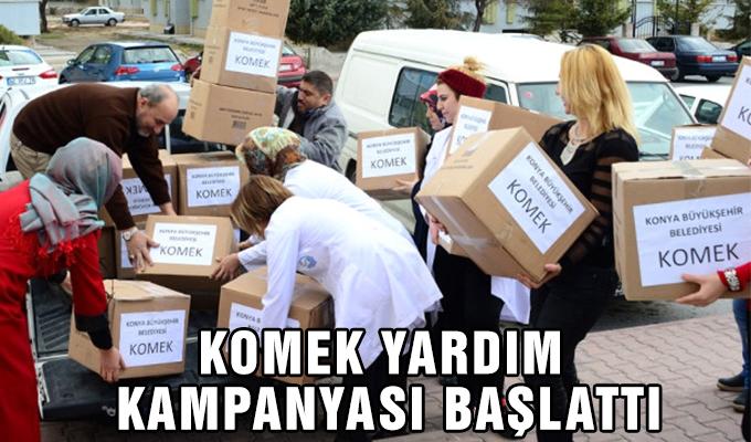 Konya Haber:  KOMEK yardım kampanyası başlattı